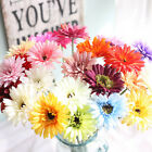 2Pcs Artificial Daisy Gerbera Rose Flowers Dried Floral Fake Wedding Party Decor