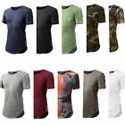 Hot Men's 100% Cotton Slim Fit Short Sleeve Shirt Solid T-shirt Tee Casual Tops