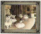 Degas Ballet Rehearsal on Stage 1874 Wood Framed Canvas Print Repro 11x14