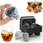 New Skull Shape 3D Ice Cube Mold Maker Bar Party Silicone Trays Halloween Mould