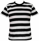 Mens Black and White Striped T-Shirt - S/M/L/XL