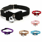 Cute Dog Cat PU Leather Bell Collar Buckle Neck Strap Safety Adjustable Necklace