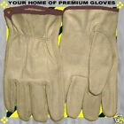 S-M-L-XL Soft Pigskin-Cowhide Riding Sale Leather Work Driving Gloves Men Women