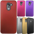 For Alcatel A30 Fierce Shockproof Lines Hybrid Impact Dual Layered Case