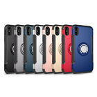 lot 8 Armor Shockproof Hybrid Ring Buckle Hard Case Cover for iphone -X