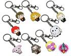 OFFICIAL HARRY POTTER CUTIE METAL KEY RING KEYRING WITH SILVER PLATED RING CLIP