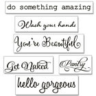 Quotes Sticker Hello Gorgeous Bathroom Mirror Vinyl Words Ge