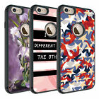 Stripe and Camouflage Pattern For iPhone 6 Plus Dual Layer Silicone Rugged Case