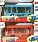 LIGHT & MUSIC BATTERY OPERATED BUMP&GO DRIVING CITY BUS SET TOY FOR KIDS OVER 3