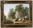 Durand A Summer Afternoon 1849 Framed Canvas Print Repro 16x20