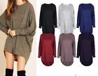 Ladies Long Batwing Sleeves Plain Oversized Casual Wear Summer Long New Top 8-26