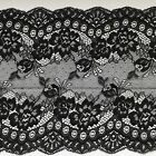 """Black Lace Clipped Wide Delicate 7.5""""/19 cm Craft Table Runner"""