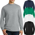 Mens Cotton Mock TURTLE NECK Long Sleeve T-Shirt Golf S-XL,2XL, 3XL, 4XL NEW image