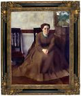 Degas Victoria Dubourg 1868 Framed Canvas Print Repro 16x20