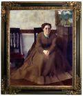 Degas Victoria Dubourg 1868 Framed Canvas Print Repro 20x24