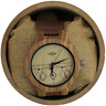 Angie Wood Creations Zebrawood Men?s Watch With Leather Band and Engraved Dial