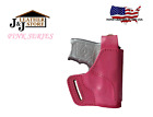 J&J PINK SERIES OWB BELT CARRY FORMED PREMIUM LEATHER HOLSTER W/ THUMB BREAK
