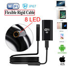 8 LED Inspection Camera WIFI Endoscope Wireless Borescope for Android iPhone UK