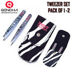 Professional Eyebrow Tweezers, Hair Tweezerette, Plucker, Eyebrows,Slanted Zebra
