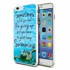 Just Keep Swimming Design Hard Back Case Cover Skin For Various Phones