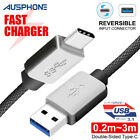 Braided Fast USB 3.1 Type C USB-C to Male Data Cable Google Oneplus Samsung S9 +