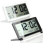 Digital Large LCD Display Date Thermometer Folding Travel Alarm Clock Snooze
