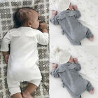 US Stock Toddler Baby Boy Girl Clothes Cotton Warm Bodysuit Baby Romper Outfits