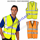 100 x Orange Yellow Hi Vis High Viz Visibility Vest EN471 Waistcoat Safety UK