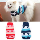 Pet Dog Puppy Knit Sweater Heart Winter Warm Hoody Clothes Coat Costume Apparel