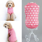 Pet Dog Clothes Puppy Cute Heart Warm Winter Hoodie Sweater Coat Costume Apparel