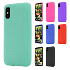 For Apple iPhone X Rubber SILICONE Soft Gel Skin Case Phone Cover + Screen Guard