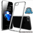 Slim Rubber Solid Clear TPU Gel Jelly Case Cover for Apple iPhone 8/8 PLUS+Film