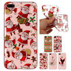 Christmas Theme Soft TPU Shockproof Phone Case Slim Cover Fr iPhone 6 7 8 Plus X