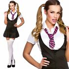 Naughty School Girl Ladies Fancy Dress Costume Sexy Outfit Size 6/24