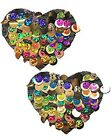 Multi-Color Party Sequin Heart Nipple Pasties by Pastease O/S
