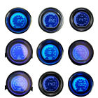 "2"" 52mm Black Digital Blue Red LED Boost Water Oil Temp Press Volt Tacho Gauge"