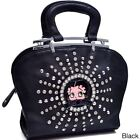 Betty Boop Rhinestone and Studs Shoulder Bag $47.44 USD