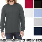 American Apparel Mens Long Sleeve T-Shirt Fine Jersey PRESHRUNK Cotton Tee S-2XL image