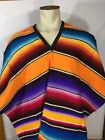 Mexican Poncho Serape Gaban Fiesta Unisex Adult One Size Fits All Blanket Tribal