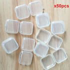 5/10/50Pcs Mini Clear Plastic Small Box Jewelry Earplugs Container Storage