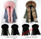 Womens Luxury Big Real Fur Collar Hooded Winter Parkas Thick Fur Lining Overcoat