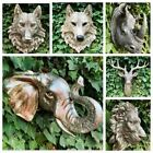Animal Skull Wall Sculpture Ram Stag Horse Head Hanging Ornament Home Decor Gift