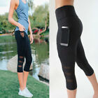 New Womens Yoga Workout Gym Leggings Fitness Sports Capri Trouser Athletic Pants