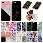 For iPod Touch 5th/6th Slim Granite Marble Rubber TPU Soft Case Shockproof Cover