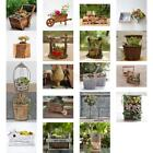 Assorted Shape Wood Pot Flower Succulents Grow Planter Garden Outdoor Decor