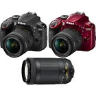 Nikon D3400 24.2MP DSLR Camera + 18-55 VR & 70-300m Lenses Bundle - Choose Color