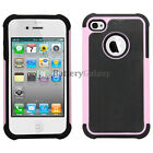 NEW HOT! Hybrid Rugged Rubber Hard Case Skin for Apple iPhone 4 4G 4S 1,100+SOLD