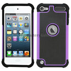 Hybrid Rugged Rubber Matte Hard Case Cover Skin for Apple iPod Touch 5 5th Gen