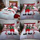 Catherine Lansfield Home Christmas Selfie Elfie Reversible Duvet Cover Set