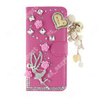Diamond PU Leather Phone Case DIY Bling Protective Wallet Cover For ZTE
